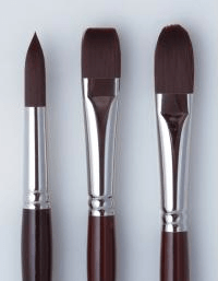 Round, Flat and Filbert Brushes courtesy of http://www.oxlades.com.au