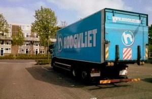 Defecte vrachtwagen van Hoogvliet