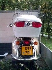 Waarschijnlijk gestolen scooter