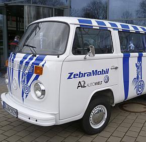 Zebrastreifen weiß und blau ...