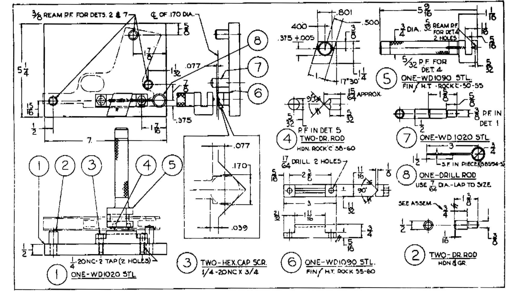 Pistol Schematic Drawings