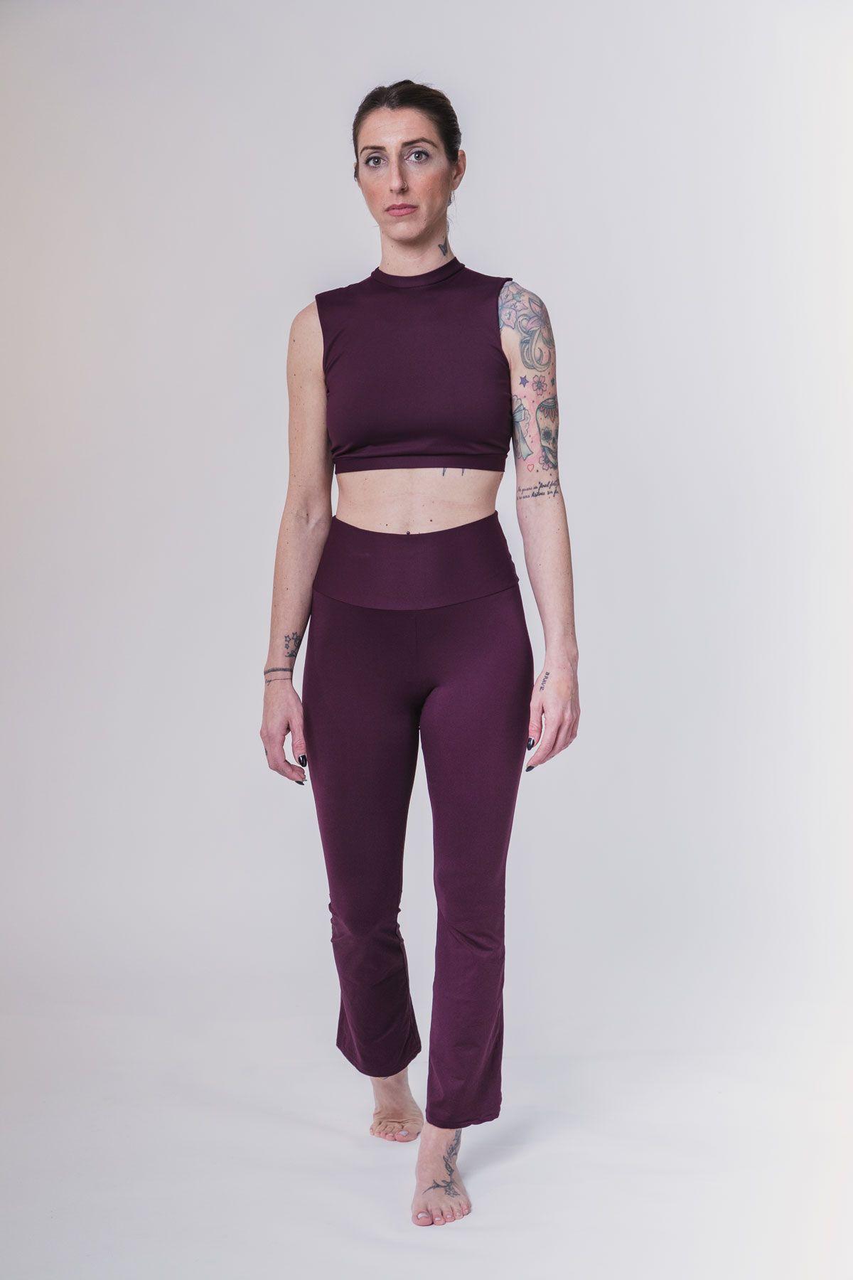 sujetador deportivo basico morado yoga barcelona