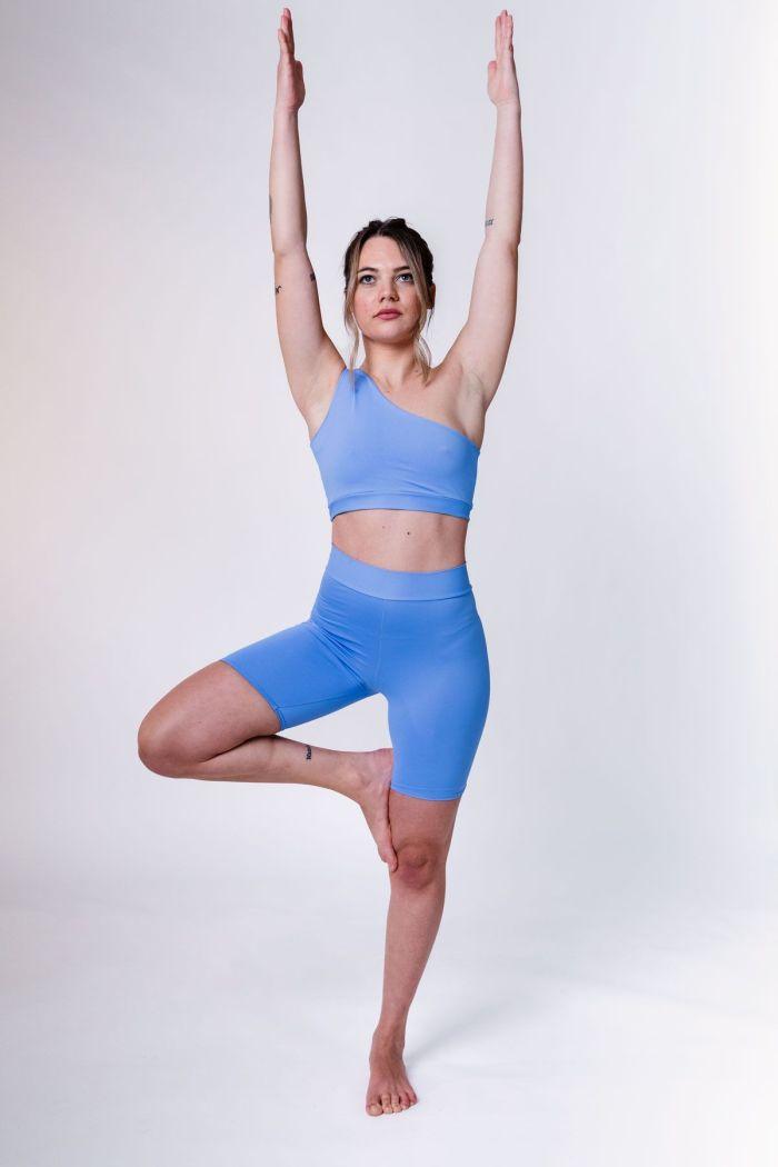 sujetador deportivo azul yoga