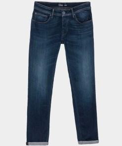 Jean bleu foncé grande longueur de jambe. Marque Tiffosi.