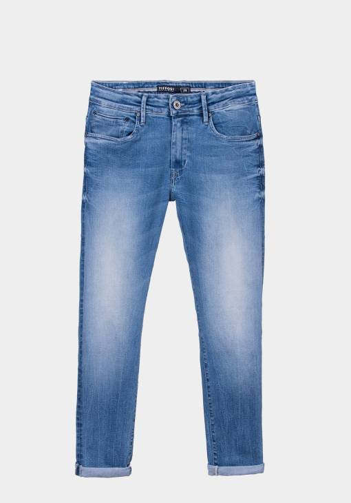 Jean bleu délavé super slim marque Tiffosi.