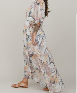Robe longue portefeuille lotus