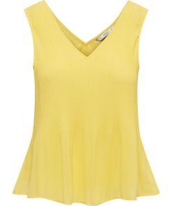 Top jaune sans manches plissé. Marque Only.