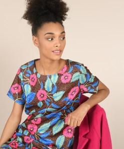 Robe courte imprimé floral