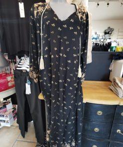 Robe longue bohème noire