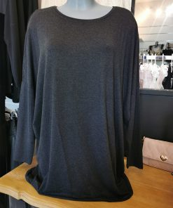 Top manches longues gris grande taille
