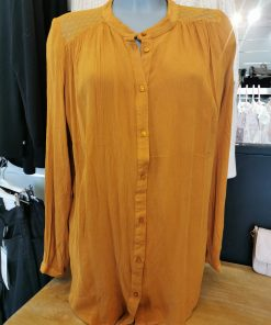 Chemise moutarde grande taille