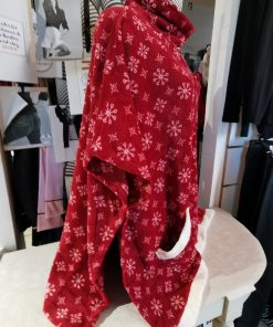 poncho d interieur rouge