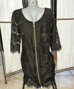 Robe courte noire dentelle promo only.