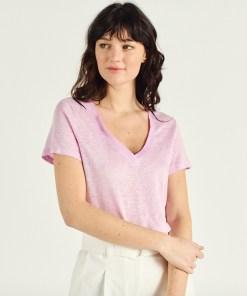 Tshirt lin purple marque Artlove.