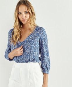 chemise à imprimé bleu Artlove