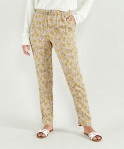 pantalon motif floral artlove