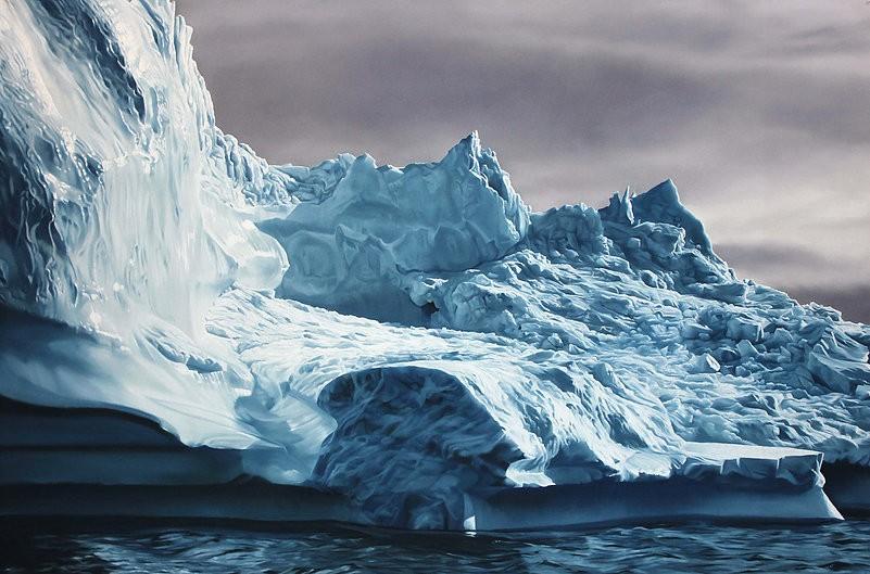 Zaria Forman antartica iceberg peint