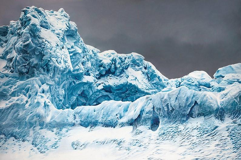 peinture photorealiste iceberg
