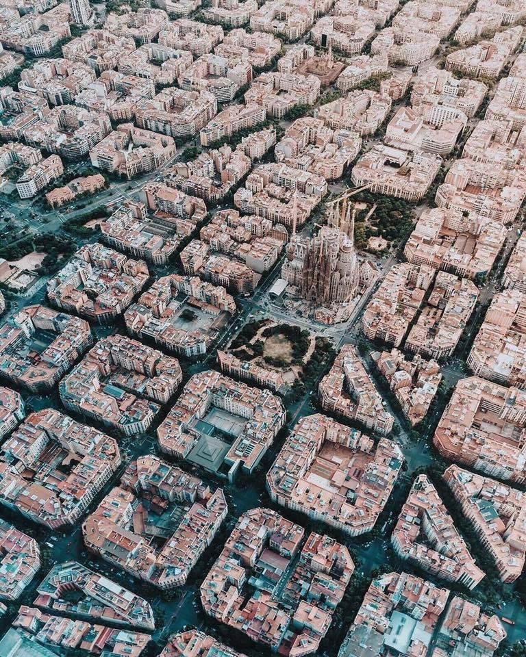 Barcelone vue du ciel, tout simplement magnifique !