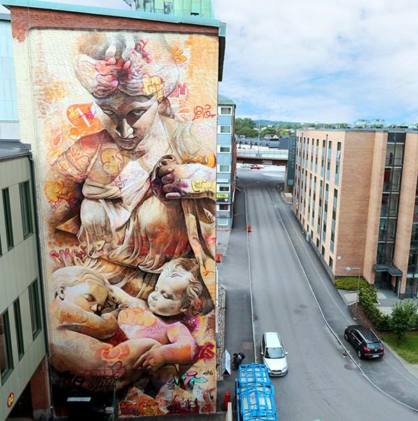 Les fresques murales de Pichi & Avo fresque murale géante