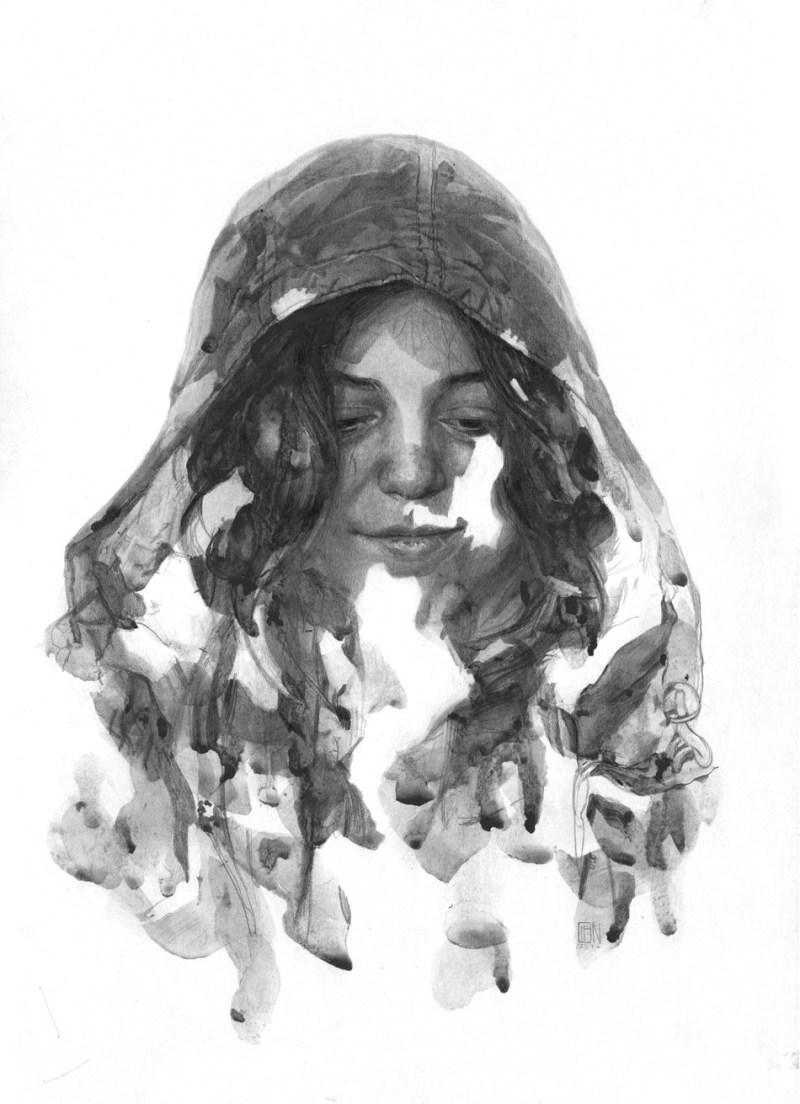 portrait Thomas Cian croquis
