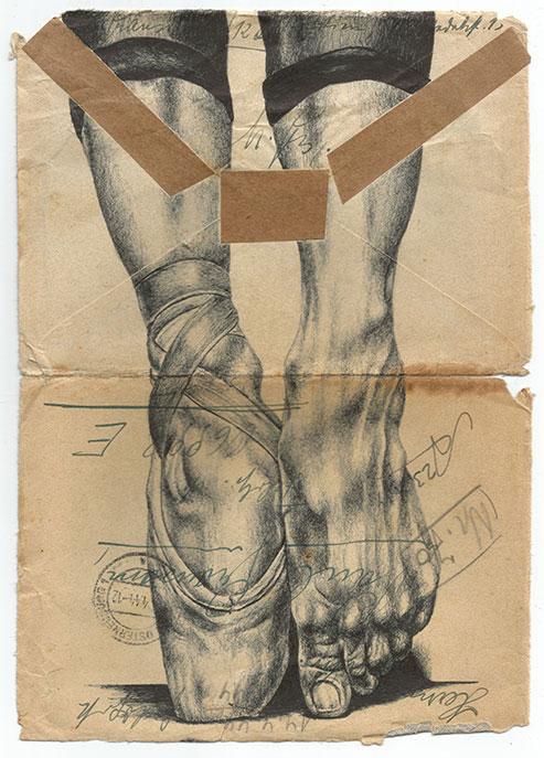 Mark Powell illustration ballerine
