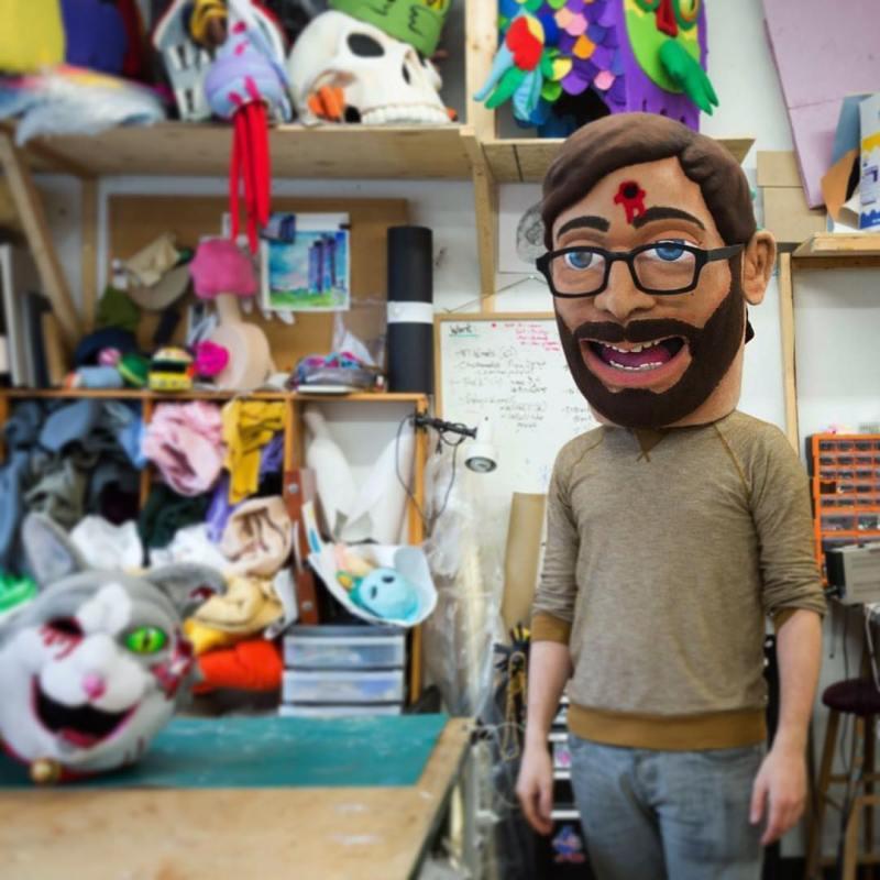 masque autoportrait de Ian Langohr