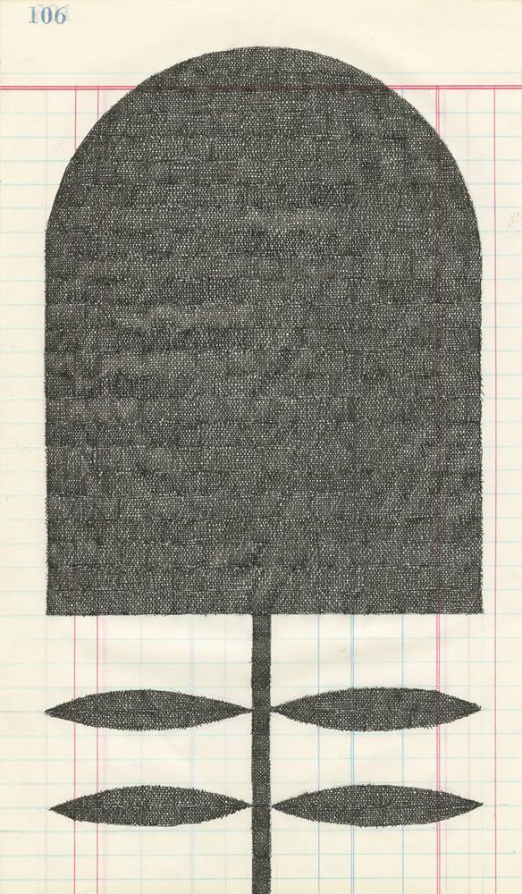 Albert Chamillard Black Flower
