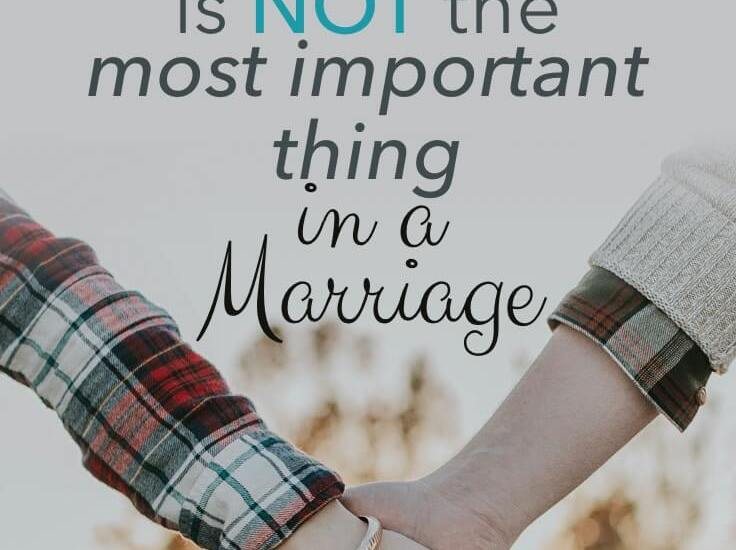 Sex is not the most important thing in a marriage