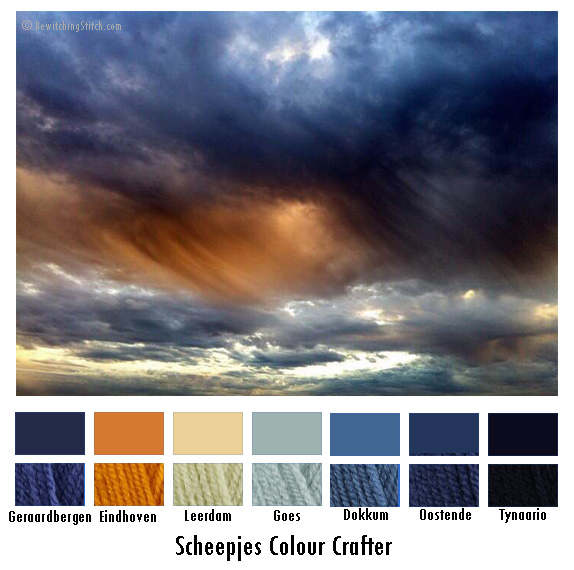 Color Palette 6 – San Diego Stormy Sunset – Bewitching Stitch