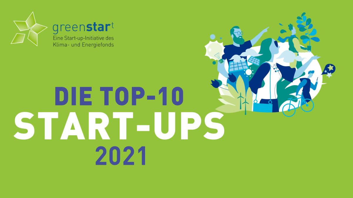 Grafik TOP-10 Start-ups 2021 greenstart