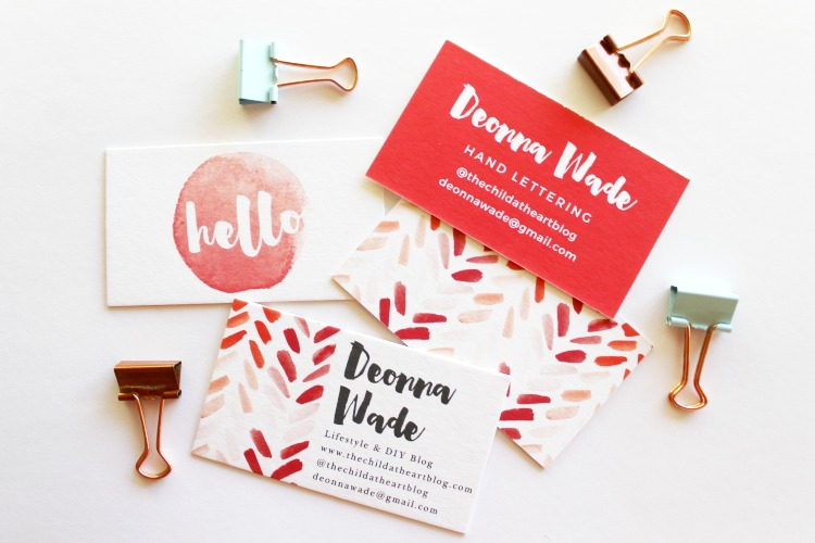 Basic Invite Red Business Cards