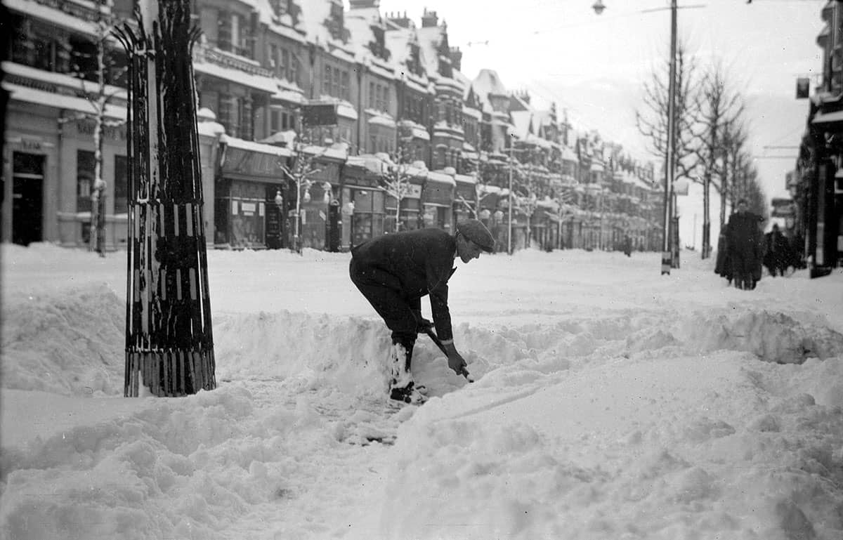 The snow in Bexhill Winter 1940