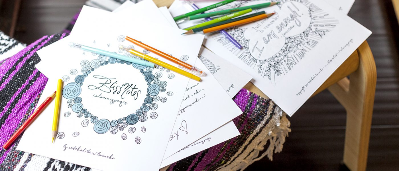 Bliss Notes Coloring Pages And Museum Quality Art Prints