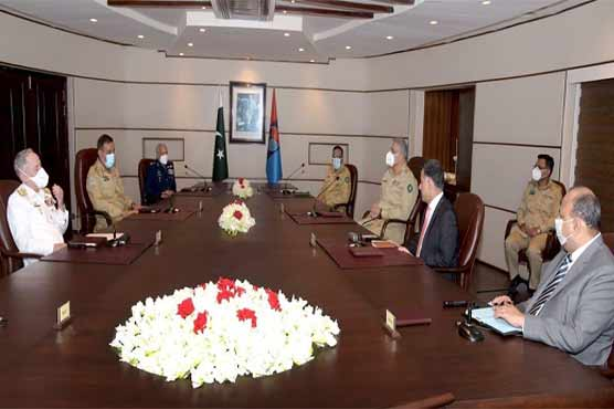Photo of Armed Forces Service Chiefs visit ISI Headquarters, briefed on important issues