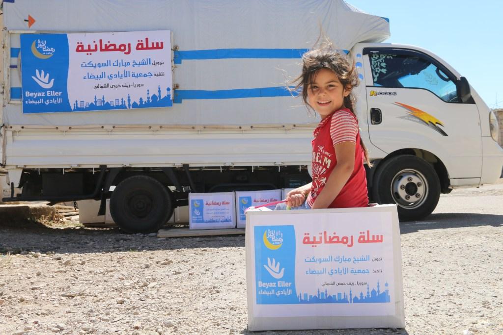 توزيع سلة رمضان بدعم الشيخ مبارك السويكت
