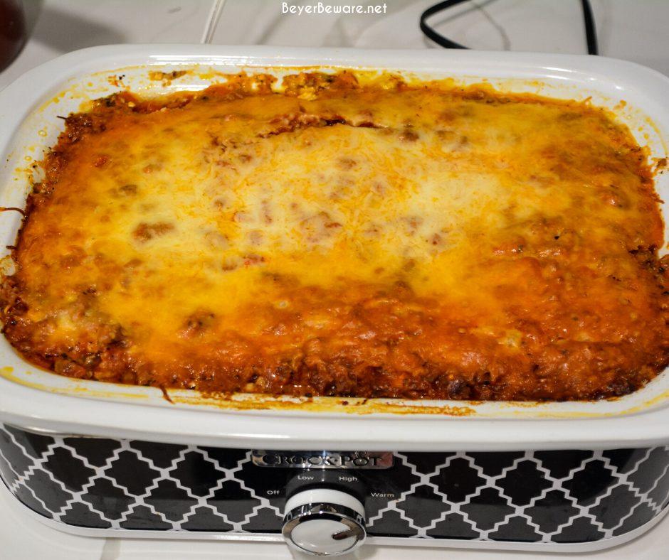 crock pot lasagna - beyer beware