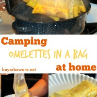 No Mess Camping Omelettes in a Bag
