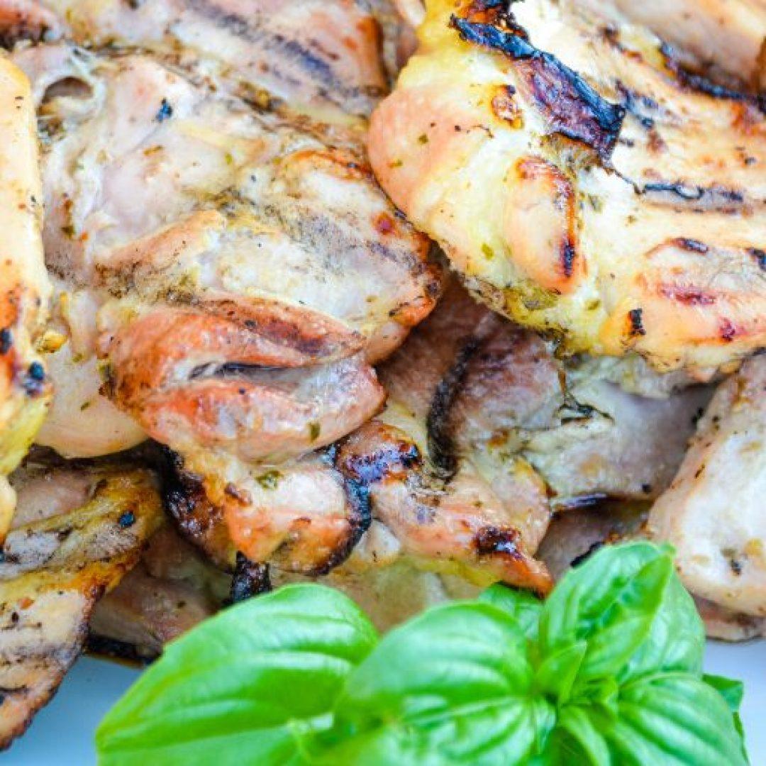 Grilled Garlic lemon basil chicken