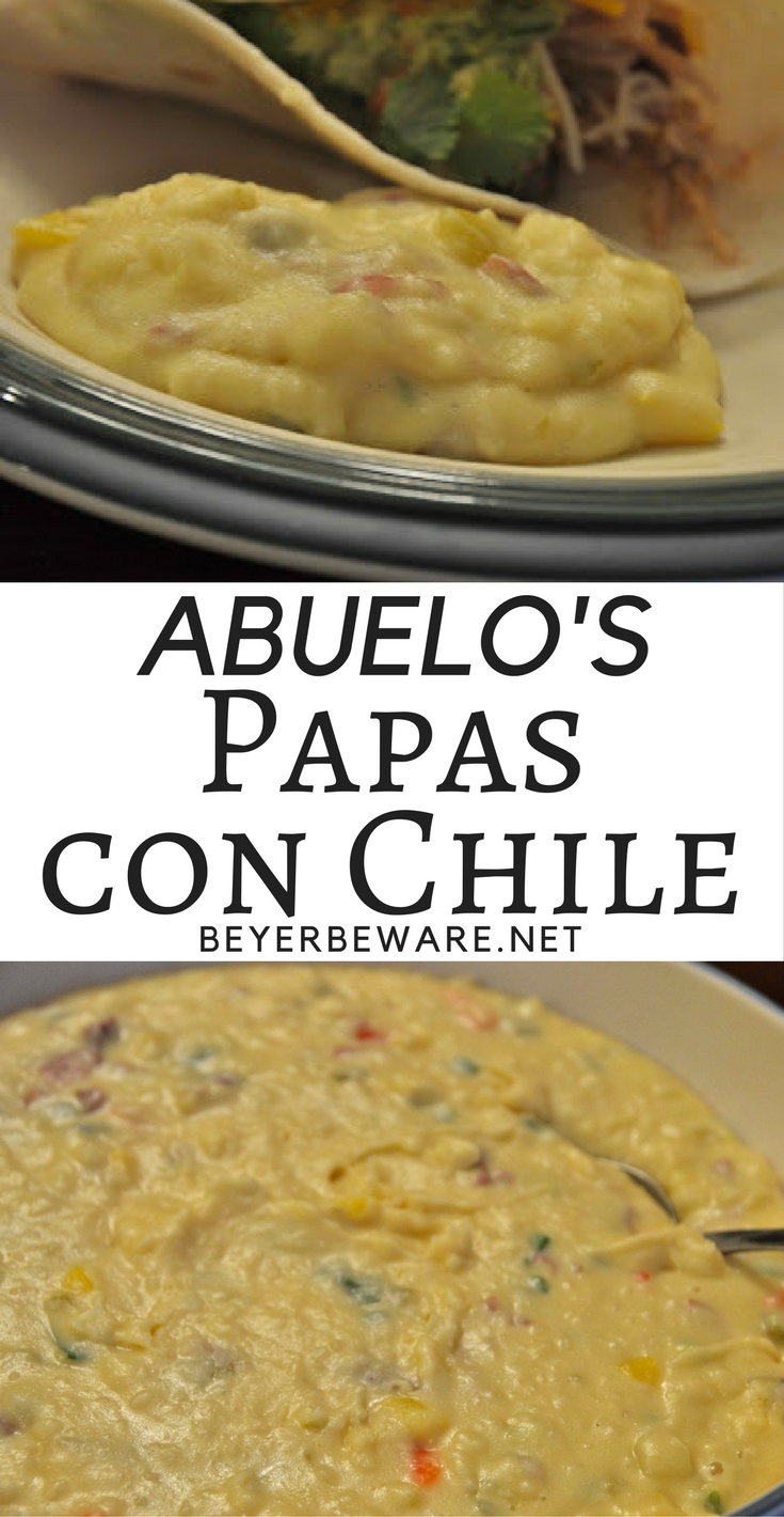 This copycat Abuelo's papas con chile recipe is our favorite loaded Mexican mashed potatoes, especially on Mexican night!