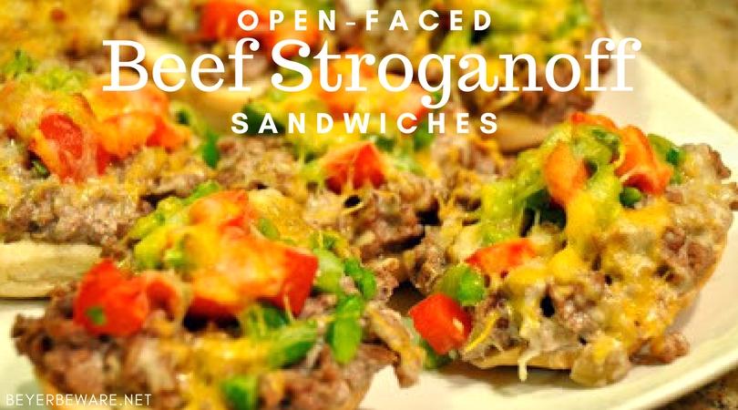Open-Faced Beef Stroganoff Sandwiches
