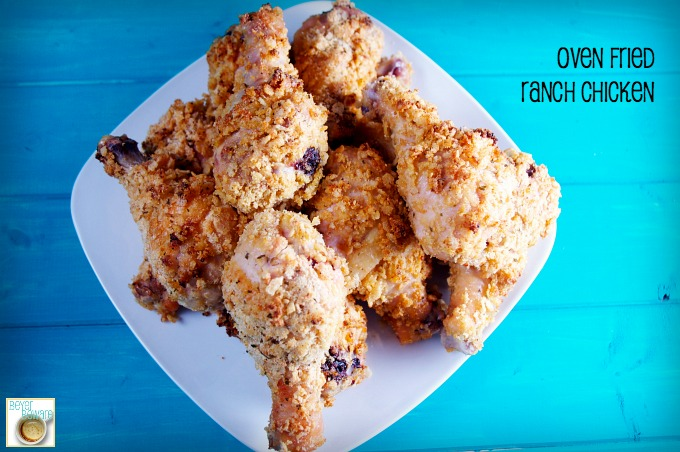 Oven Fried Ranch Chicken is a super satisfying fried chicken recipe without all the grease.
