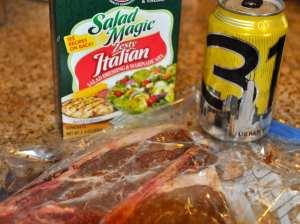 Beer Marinade ingredients for steak