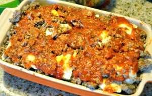 ravioli lasagna before baking