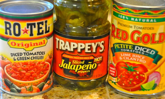 Red Gold and Rotel canned tomatoes