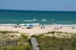 Beach view of St. George Island Gulf side beach