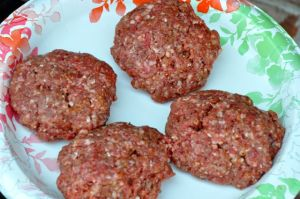 Beef burger patties
