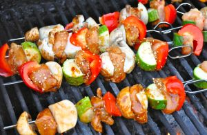 kabobs on the grill