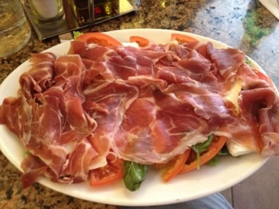 Prosciutto salad with basil