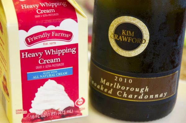 Heavy Cream and white wine